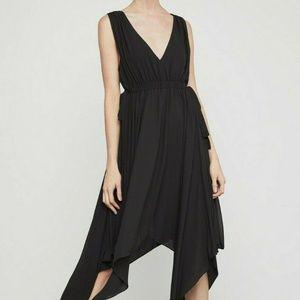 BCBG MaxAzria Womens Black Asymmetric Handkerchiek